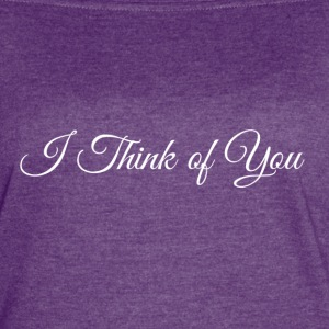 I Think of you logo - Women's Vintage Sport T-Shirt