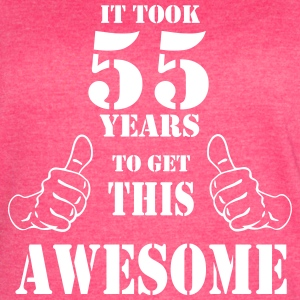 55th Birthday Get Awesome T Shirt Made in 1962 - Women's Vintage Sport T-Shirt