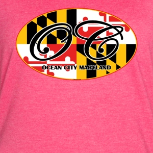 Ocean City Maryland Flag Design - Women's Vintage Sport T-Shirt