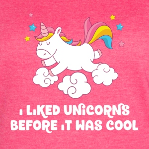 I liked unicorns before it was cool - Women's Vintage Sport T-Shirt