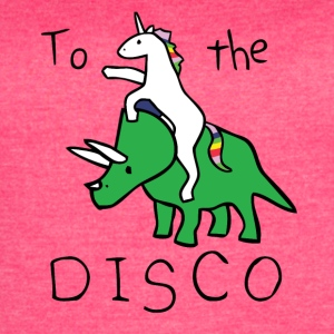 Come On Disco With Unicorn - Women's Vintage Sport T-Shirt