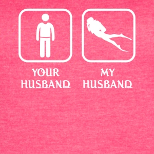 Husband Diving Love- cool shirt,geek hoodie,tank - Women's Vintage Sport T-Shirt