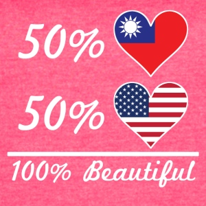 50% Taiwanese 50% American 100% Beautiful - Women's Vintage Sport T-Shirt