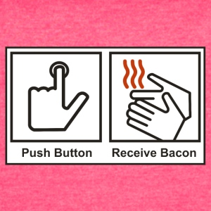 Push button receive bacon - Women's Vintage Sport T-Shirt