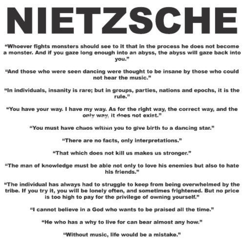Nietzsche Quotes Womens Vintage Sport T Shirt Spreadshirt