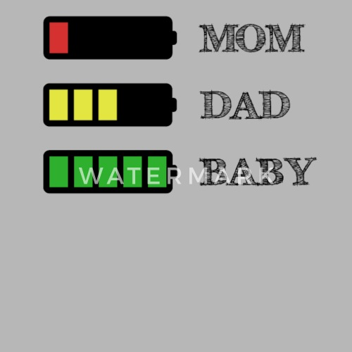 Funny Quote Parents Mom Dad Baby Battery Stress Womens Vintage