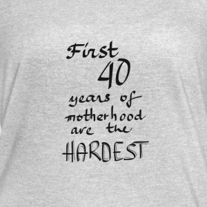 First 40 years of motherhood - Women's Vintage Sport T-Shirt