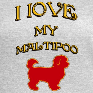 I LOVE MY DOG Maltipoo - Women's Vintage Sport T-Shirt
