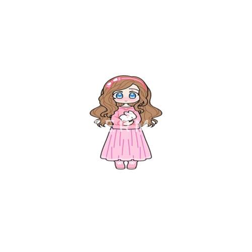 Cute Shy Anime Girl With Bunny Apron Spreadshirt