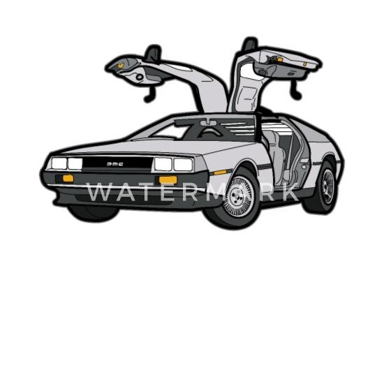 DeLorean DMC 12 Time Machine Retro Style Car Babygrow