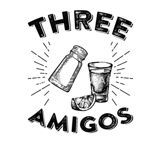 Funny Novelty Apron Kitchen Cooking The Three Amigos
