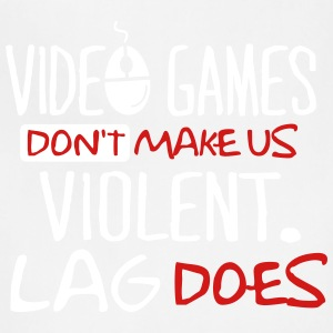 video games don t make us violent lag does - Adjustable Apron