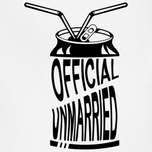 Official Unmarried Logo Design Cool T-shirt - Adjustable Apron