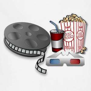 3D Cinema Movie Popcorn - Adjustable Apron