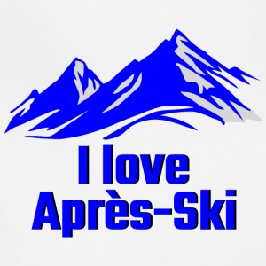 GIFT - I LOVE APRES SKI BLUE - Adjustable Apron