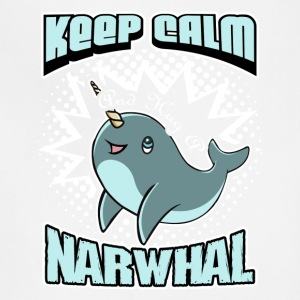 KEEP CALM AND HUG A NARWHAL SHIRT - Adjustable Apron