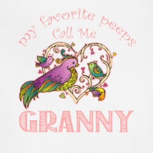 My Favorite Peeps Call Me Granny Shirt - Adjustable Apron