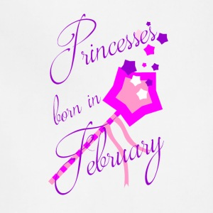 Princesses Born in February - Adjustable Apron