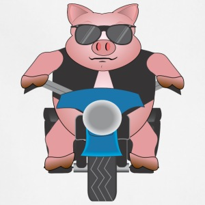 Pig on a motorcycle - Adjustable Apron