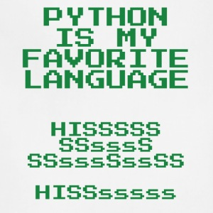 python is my favorite language - Adjustable Apron