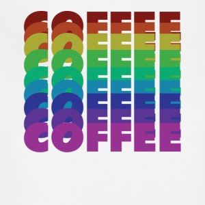 rainbow coffee - Adjustable Apron