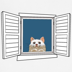 Kitten in the window - Adjustable Apron