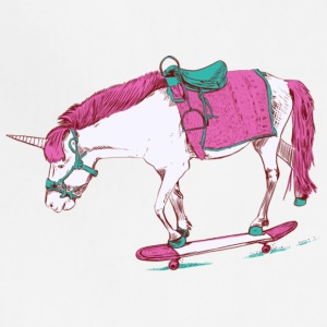 Unicorn on a Skateboard Gift Shirt Pre - Adjustable Apron