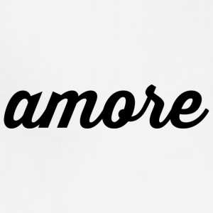 Amore - Cursive Design (Black Letters) - Adjustable Apron