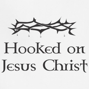 hooked on jesus - Adjustable Apron