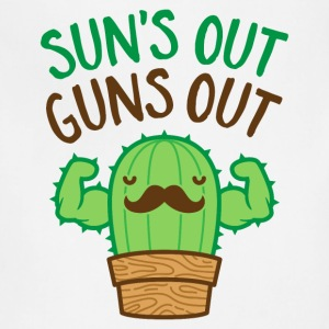 Sun's Out Guns Out Macho Cactus - Adjustable Apron