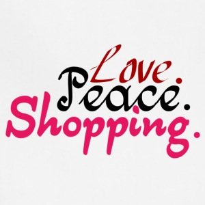 Love.Peace.Shopping. - Adjustable Apron