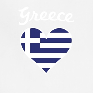Greece Flag Heart - Adjustable Apron