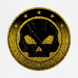 Golden Skull Emblem - Gold Symbol Death Bones - Adjustable Apron