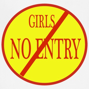 girls no entry - Adjustable Apron