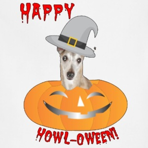 Whippet Happy Howl oween shirt - Adjustable Apron