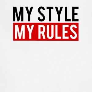 my style my rules black Red - Adjustable Apron