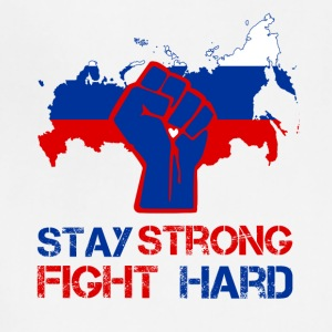 Russia stay strong fight hard - Adjustable Apron