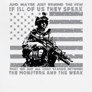 The Monsters And The Weak - US Army Veteran - Adjustable Apron