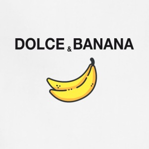 dolce and banana ironic satire humor fashion trend - Adjustable Apron
