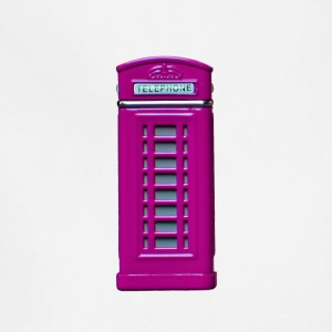 phone booth purple - Adjustable Apron