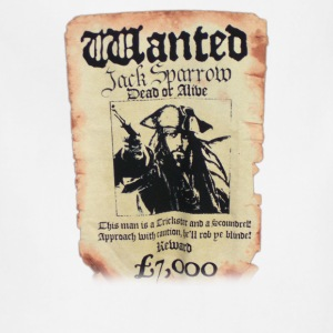 Disney Pirates Of The Caribbean Poster Wanted Jack - Adjustable Apron