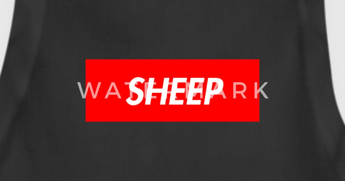 sheep supreme logo parody by live life spreadshirt