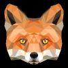 fox head low poly animal illustration art wilderne - Adjustable Apron