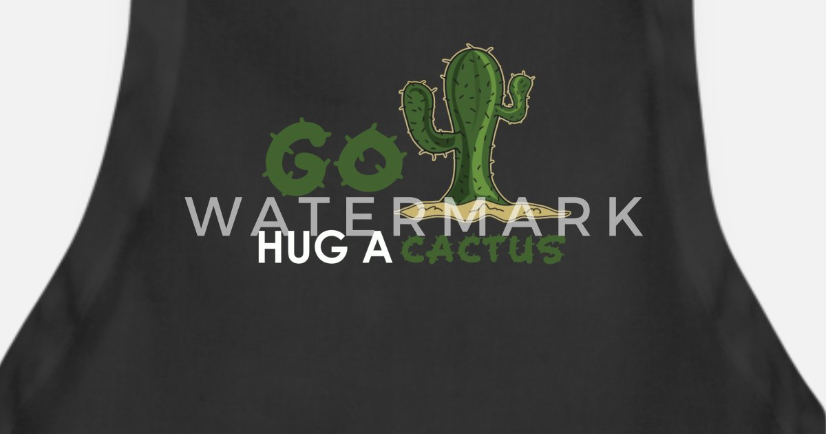 Desert Cactus Quotes Design Apron | Spreadshirt