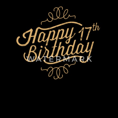 Happy 17th Birthday Apron Spreadshirt