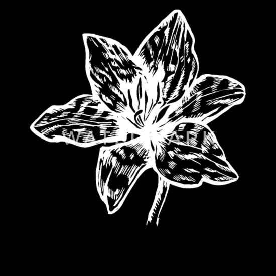 Fleurs Icone Lys Noir Blanc Dessin Tablier Spreadshirt