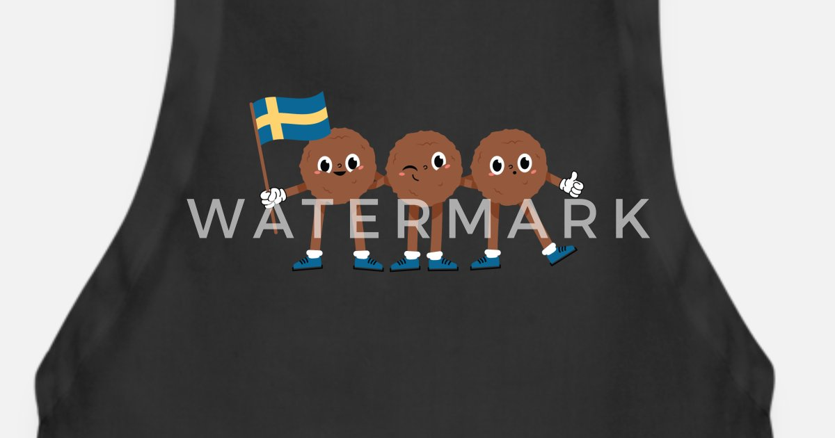 Swedish Meatballs With Swedish Flag Funny Sweden Apron Spreadshirt