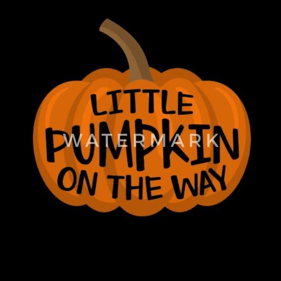 df9f6f78e6b1c Little Pumpkin On The Way Cute Halloween Pregnancy Apron | Spreadshirt