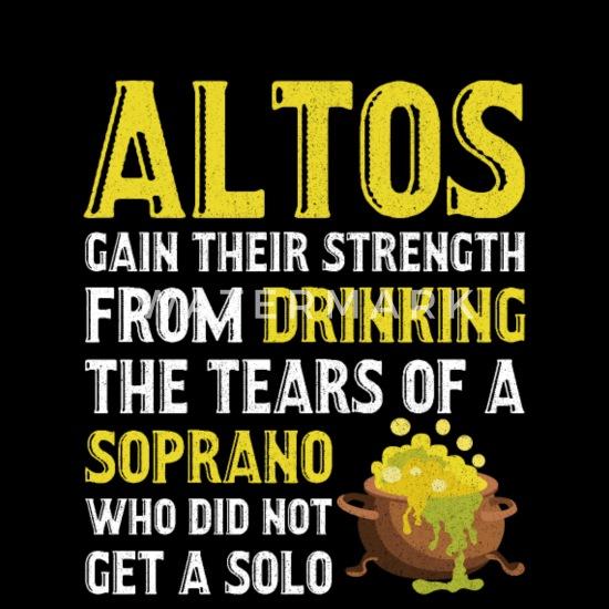 Alto Singer Tears of Soprano Singer Music Musician Apron | Spreadshirt