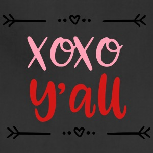 XOXO Y'all Valentines Day Kids Baby Design - Adjustable Apron